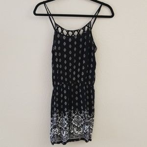 Romper with adjustable straps